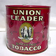 REDUCED Union Leader Advertising Tobacco Tin