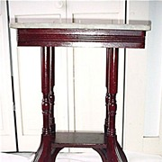 SALE Stand Marble Top  American Victorian  Antique Table