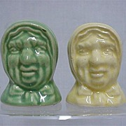 REDUCED Salt and Pepper Set Hags Head Shakers