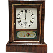 SALE Antique American Rosewood Mantle Clock