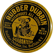 SALE Rubber Dubbin  Buffalo NY Advertising Tin