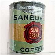 SALE Chase & Sanborn Coffee Tin Seal Brand 50% OFF