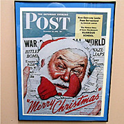 SALE War Time Santa Christmas 1942 Saturday Evening Post Cover 50% OFF