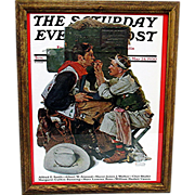 SOLD The Texan May 24, 1930 Saturday Evening Post Cover by Norman Rockwell