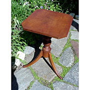 SALE Candlestand or Table American Tiger Maple Early and Unusual