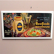 SALE Advertising Sign  Best Foods Mayonnaise Lithograph 50%  OFF