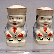 SALE Salt and Pepper Set Pair of Tory Shakers