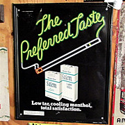 REDUCED Advertising Tobacco Sign for Salem Cigarettes