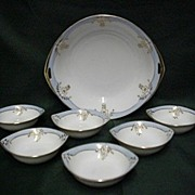 SALE Butter Set Nippon Porcelain Service for Six