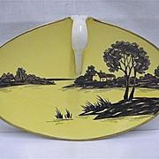 SALE Nippon Porcelain Silhouette Nappy or Lemon Dish