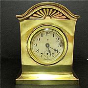 SALE Mantel Clock  Gold Gilt Ansonia Antique
