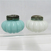 SALE Salt and Pepper Set Dithridge Glass Shakers  1895 - 1901