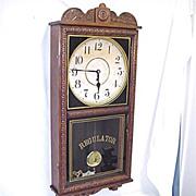 SALE Antique American Wall Clock Waterbury Regulator