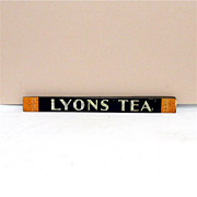 SALE LYONS Tea Store Display Tin Advertising Sign