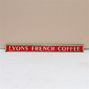 SALE LYONS French Coffee Store Advertising Sign