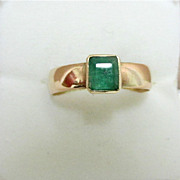 SALE Emerald Ring Hallmarked 1867 9 Carat Gold