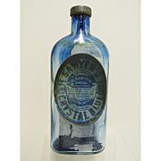 SALE Saywer's Crystal Blueing Glass Bottle