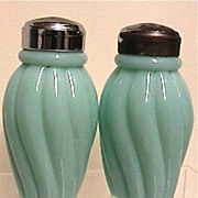 SALE Salt and Pepper Shaker Set Antique American Glass