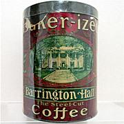 REDUCED Barrington Hall Advertising Coffee Tin
