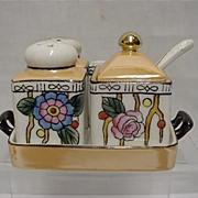 SALE Chikaramachi Porcelain Art Nouveau Condiment Set