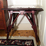 SALE Victorian Center Table in Walnut