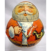 SALE Santa Roly Poly  Advertising Tin