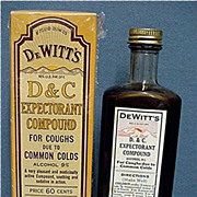 SALE DeWitts D & C Expectorant Compound Cough Syrup Unused Condition Pharmacy or Drug Store It