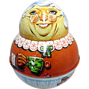 SALE Mrs. Claus Roly Poly Tin