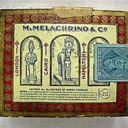 REDUCED M. Melachrino & Co. Advertising Egyptian Cigarettes Box