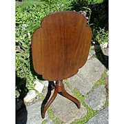 SALE American Candle Stand in Walnut a Tilt Top Table with Spider Legs