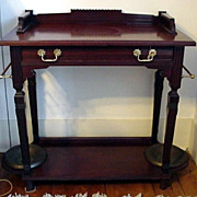 SALE Hall Stand Victorian Mahogany