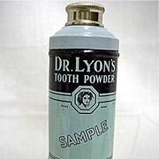 SALE Sample Tin For Dr. Lyons Tooth Powder Mint Unopened