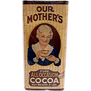 SALE Mothers Cocoa Advertising Tin