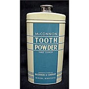SALE McConnon Tooth Powder Tin Mint Condition