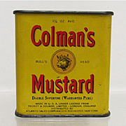 SALE Spice Tin Colman Mustard with Original Contents