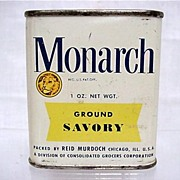 SALE Monarch Spices  Ground Savory Advertising Tin