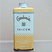SALE Advertising Tin For Gardenia Talc  50% OFF
