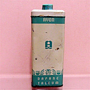 SALE Advertising Avon Talc Tin Daphne Talcum Powder 50% OFF