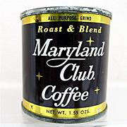 REDUCED Advertising Coffee Tin  MARYLAND CLUB Sample
