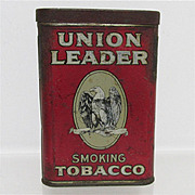 REDUCED Union Leader Advertising Tobacco Pocket Tin