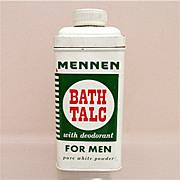 SALE Advertising Talc Tin For Mennen Talc for Men 50% OFF