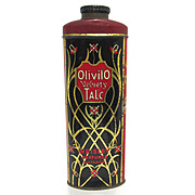 SALE Olivilo Velvety Advertising Talc Tin From Chicago Talcum Powder 50% OFF