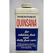 SALE Advertising Mennen Quinsana Foot Powder Tin 50% OFF