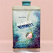SALE Advertising Tin for AVON Nearness Talc 50% OFF