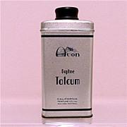 SALE Advertising Tin for Avon Dophne Talcum 50% OFF