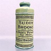 SALE Talc Tin  Sample Size Buddy Brooks