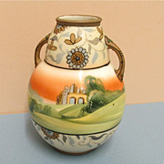 REDUCED Vase  Nippon Bisque Porcelain Hand Painted Antique