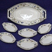 REDUCED Relish Set Nippon Porcelain Master Dish and Six Servings