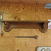 "SALE 1850 American Shelf Grain Painted 42"" Long"