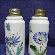 SALE Salt and Pepper Shaker Set American Opalware Glass